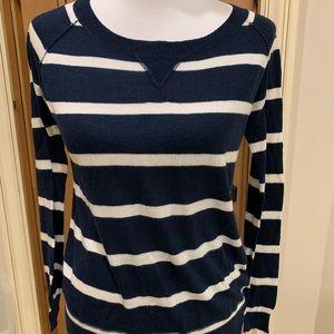 Splendid Navy & White Light Sweater- Small
